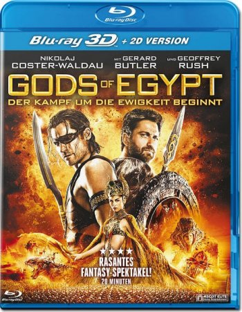 Gods of Egypt 3D Blu Ray 2016