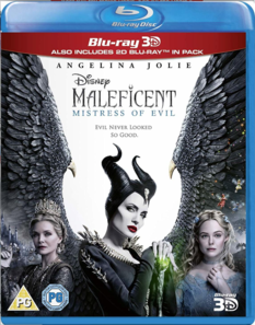 Maleficent Mistress of Evil 3D Blu Ray 2019